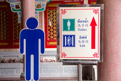 Toilets sign for public restroom Stock Image