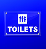 Toilets transparent sign Royalty Free Stock Photo