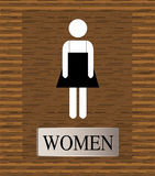 Toilets WC sign for women Royalty Free Stock Image