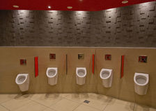 Toilett with urinals Stock Images