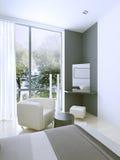 Toilettafel in dure hotelruimte Royalty-vrije Stock Afbeeldingen