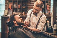 Toilettage de barbe images libres de droits