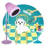 Toilettage de chien Image stock
