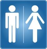 Toilette标志 库存照片