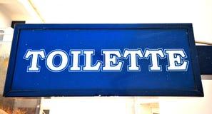 toilette знака Стоковая Фотография