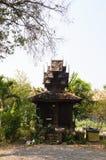 Toilette antique chez Wat Sri Rong Muang, Lampang, Thaïlande photographie stock