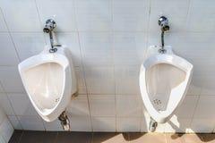 Toilette auf einem weißen stockfoto