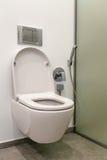 Toilette avec le bidet dans la salle de bains Photographie stock libre de droits