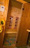 Toilette, Bad und Sauna in einem Raum Stockfoto