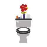 toilette colorée avec le vase décoratif Photographie stock libre de droits