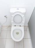 Toilette con sciacquone sporca Immagine Stock