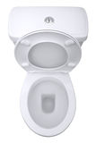 toilette d'isolement photo stock