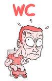 Toilette de bande dessinée illustration de vecteur