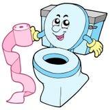 toilette de dessin animé Photos stock