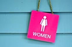 Toilette de femme de signe image stock