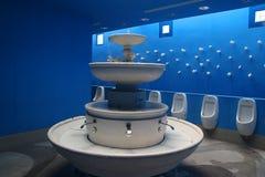 Toilette de parc d'attractions Photo stock