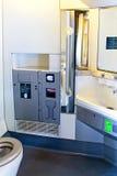 Toilette de train image libre de droits