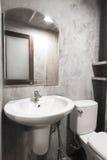 Toilette del cemento Fotografie Stock