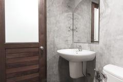 Toilette del cemento Immagine Stock Libera da Diritti