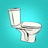Toilette del sedile di toilette Fotografie Stock Libere da Diritti