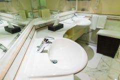 Toilette dell'hotel Immagine Stock