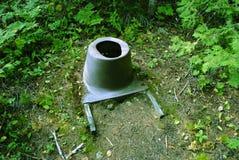 Toilette in den Grenzgewässern Stockfotos