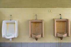 Toilette in der Tankstelle Lizenzfreies Stockfoto