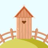 Toilette di legno di Villiage royalty illustrazione gratis