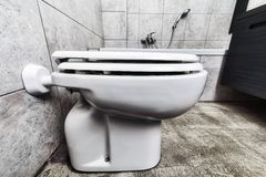 Toilette dolny widok fotografia stock