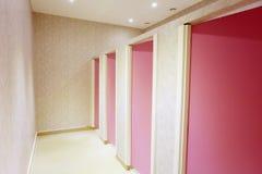 Toilette drzwi fotografia stock