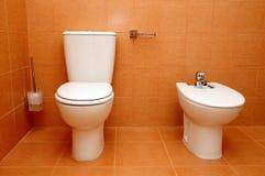 Toilette e bidet fotografia stock