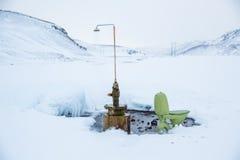 Toilette et douche de Krafla Photo libre de droits