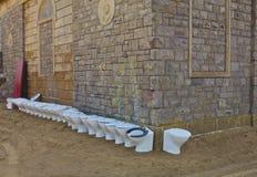 Toilette extérieure Photos libres de droits