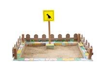 Toilette extérieure d'animal familier de jardin d'isolement Image stock
