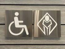 Toilette für Rollstuhl und Graubart Lizenzfreie Stockfotografie