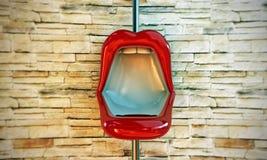 Toilette formado labios Foto de archivo