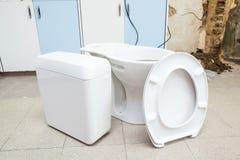 Toilette hat, schon installiert zu sein Lizenzfreie Stockbilder