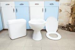 Toilette hat, schon installiert zu sein Stockfoto