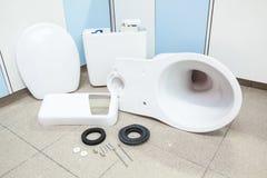 Toilette hat, schon installiert zu sein Stockfotografie