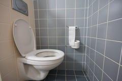 Toilette in hotel room stock photo