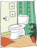 Toilette im Haus Stockfotografie