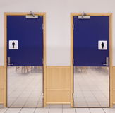 Toilette ingång royaltyfria bilder