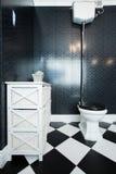 Toilette noire et blanche Photo libre de droits