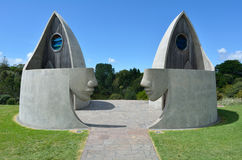 Toilette Nuova Zelanda di Matakana Fotografie Stock