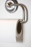 Toilette paper. On metal design holder Stock Image