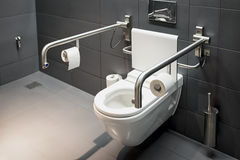 Toilette per i disabili immagine stock