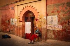 Toilette publique pour les hommes marrakech morocco Photo stock