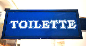 Toilette sign Stock Photography