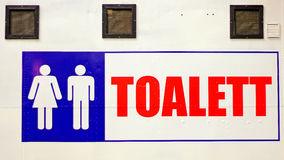 Toilette sign. Illustration of a man and a woman stock photography