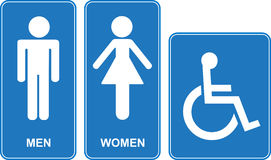 Toilette sign Royalty Free Stock Photos